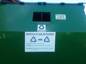 This is an example of solid plastic recycling accepted in Kauaii County.  Because there is no separating unit, only the most valuable of plastics are accepted.