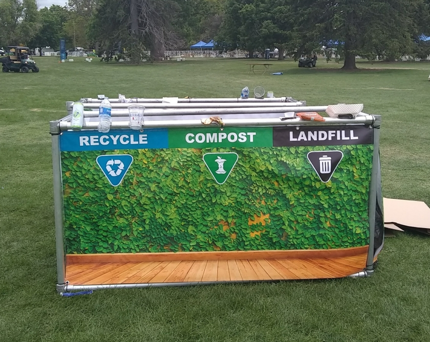 Waste Disposal station at an event in Denver, CO